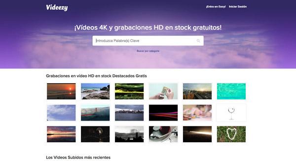Descargar vídeos gratuitos en Videezy