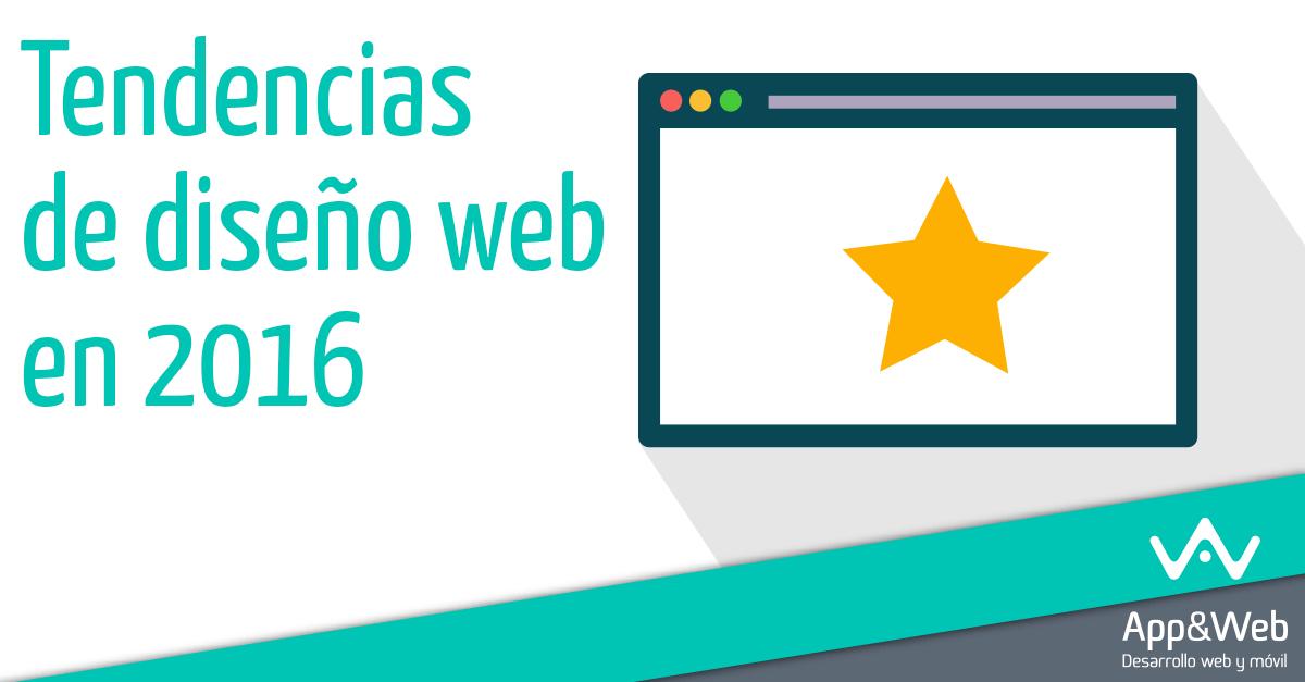 Tendencias de diseño web en 2016