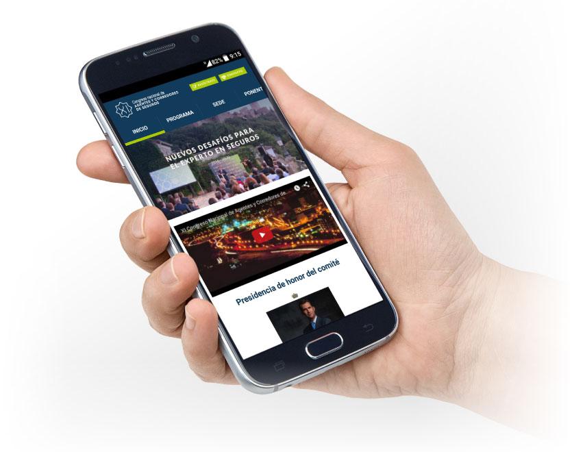 Aplicación móvil de Congreso Mediadores Granada desarrollado por App&Web