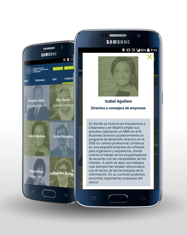 App nativa del Congreso Mediadores Granada desarrollado por App&Web