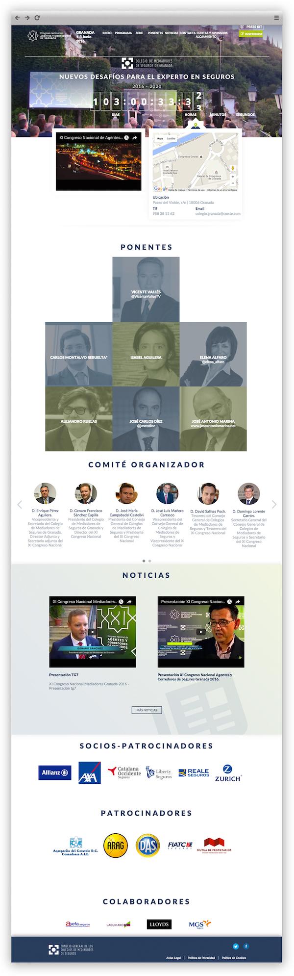 Desarrollo web de App&Web para Congreso Mediadores Granada