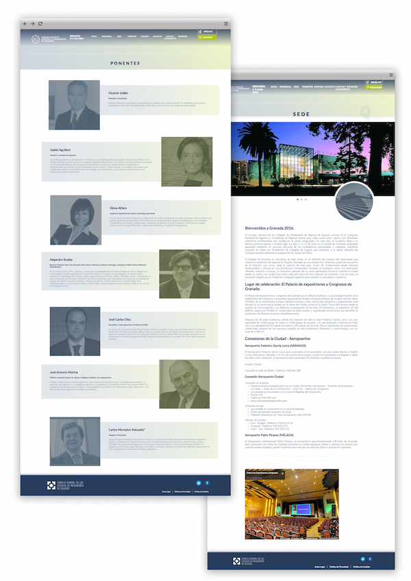 Desarrollo web a medida de Congreso Mediadores Granada realizado por App&Web