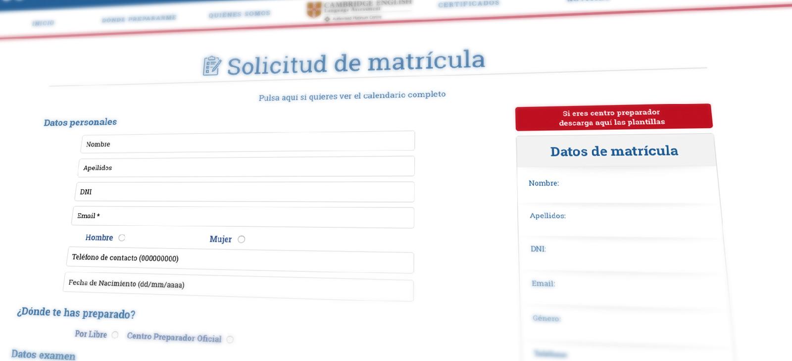 Proceso de matriculación de Exams Andalucía, uno de los proyectos destacados de Grupo Winecta