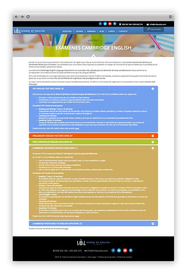 Certificado Cambridge en la web de IML La Zubia