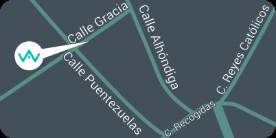 Mapa de la ubicación del punto de partida de App&Web