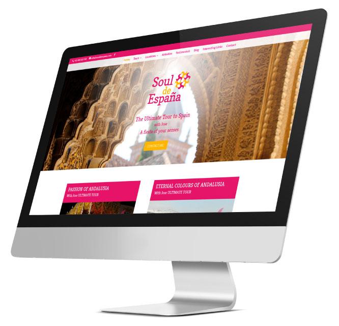 Diseño web a medida de Soul de España por App&Web