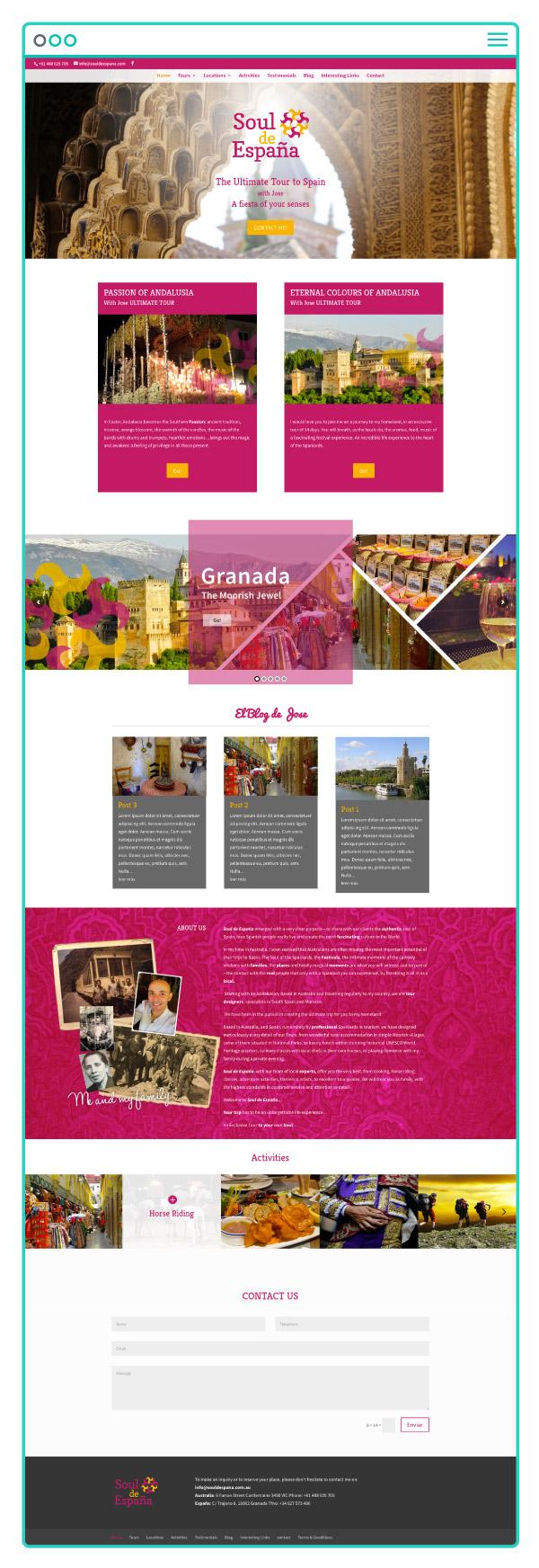 Desarrollo y diseño web a medida de Soul de España