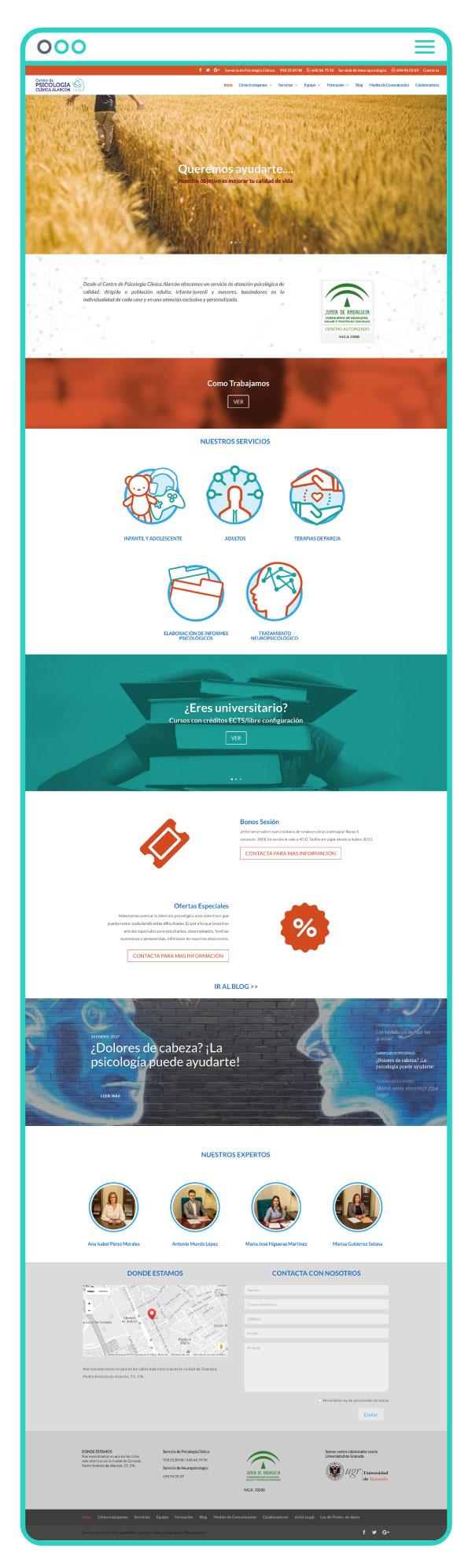 Diseño web a medida de Centro Psicológico Alarcón