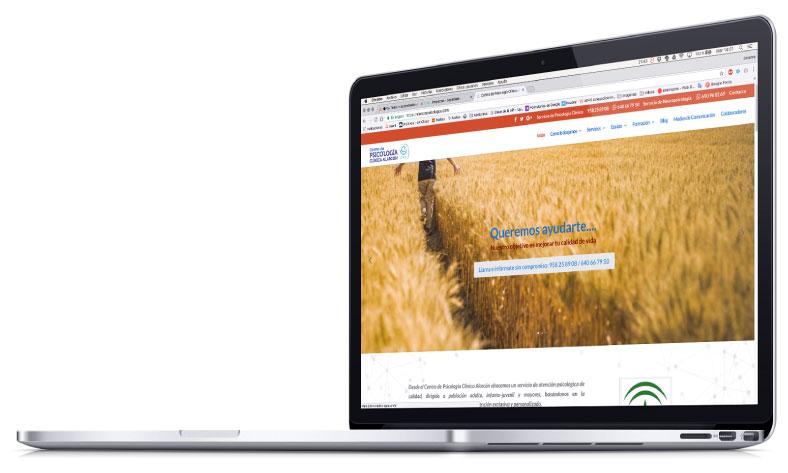 Página web Centro Psicológico Alarcón, uno de los proyectos destacados de App&Web