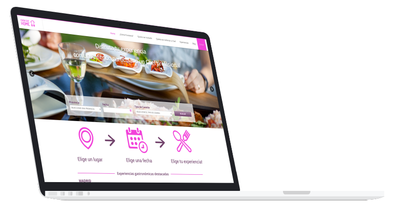 Página web de Cook Eat Home, uno de los proyectos destacados de App&Web