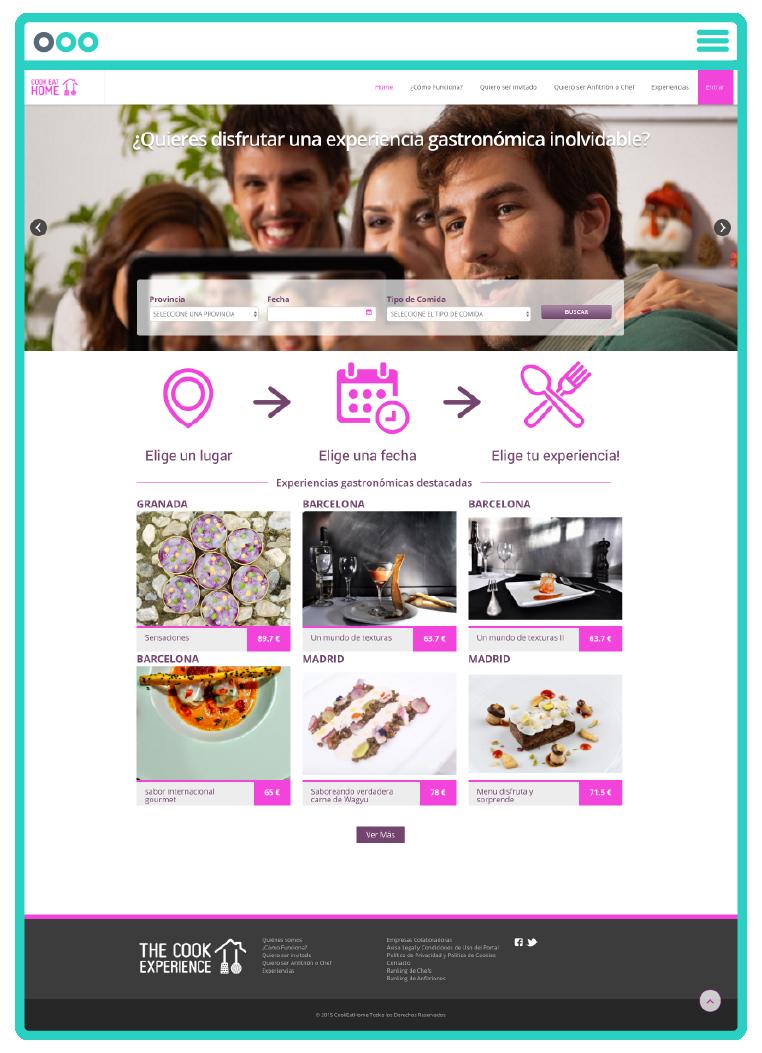 Página web de Cook Eat Home, desarrollo web por App&Web
