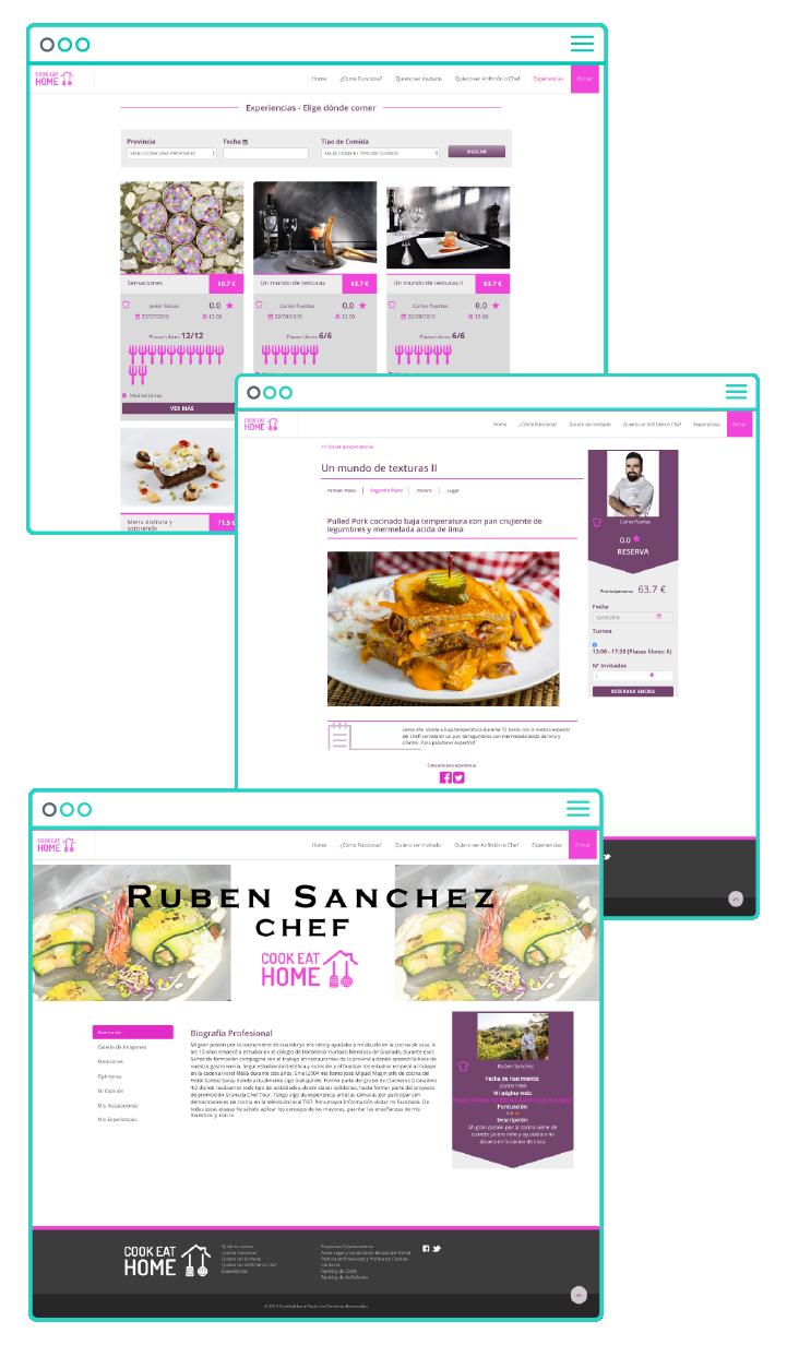 Desarrollo web a medida de Cook Eat Home por App&Web