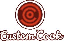 Logo de Custom Cook como parte de la identidad corporativa realizada
