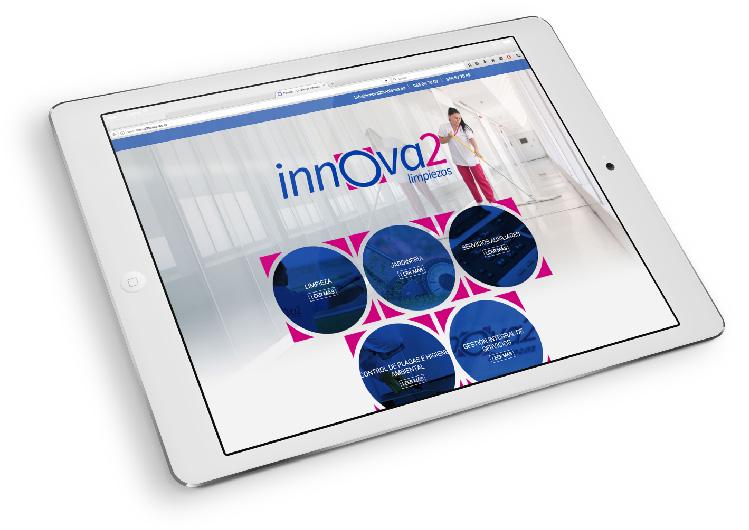 Desarrollo web de Innova2 Limpiezas realizado por App&Web