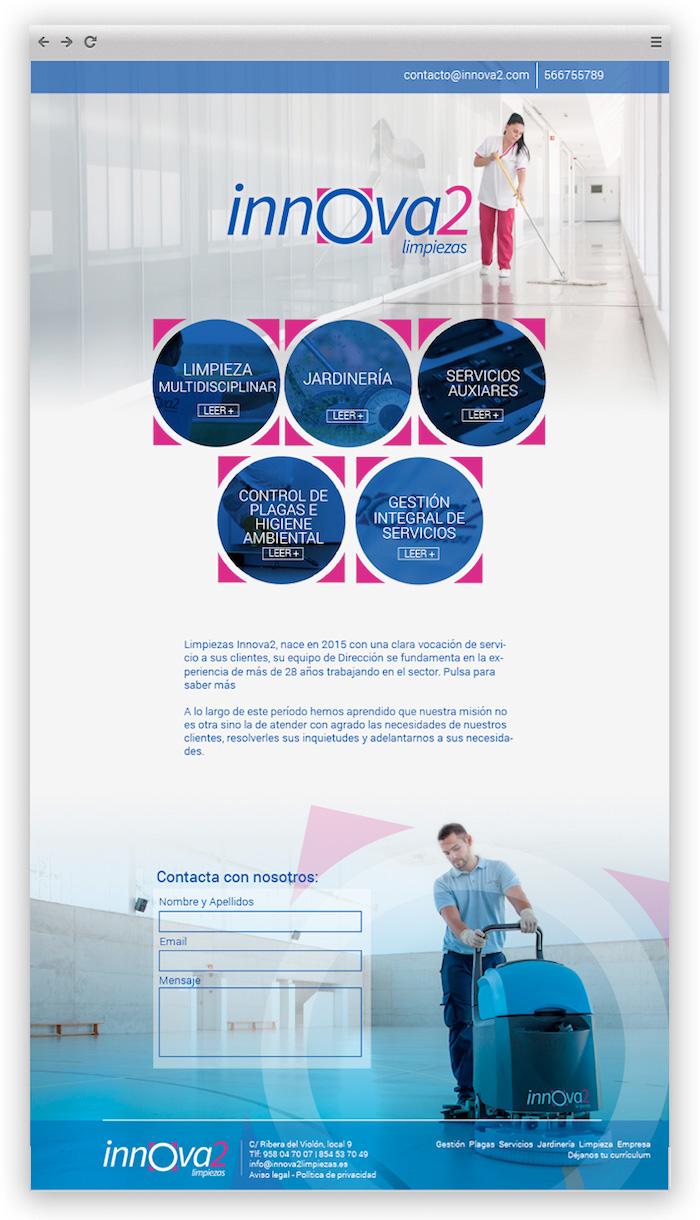 Página web de Innova 2 Limpiezas, uno de los proyectos destacados de App&Web