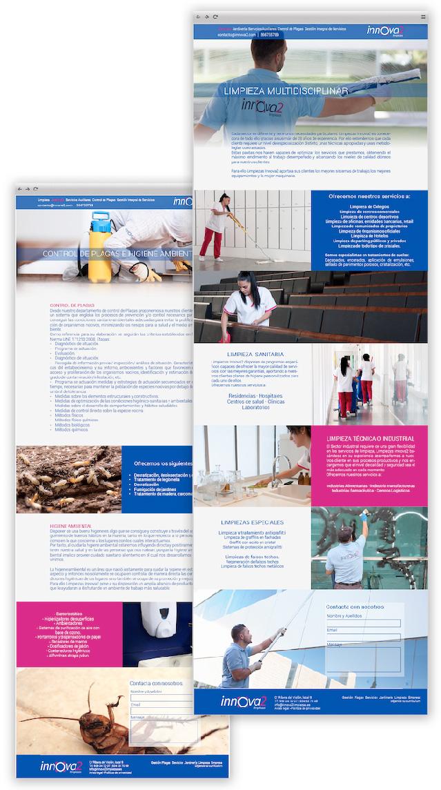 Página web de Innova2 Limpiezas, uno de los proyectos destacados de App&Web