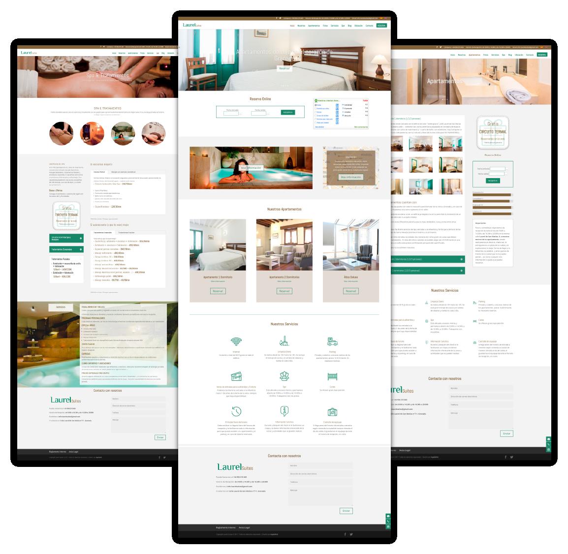 Página web de Laurel Suites, uno de los proyectos destacados de App&Web