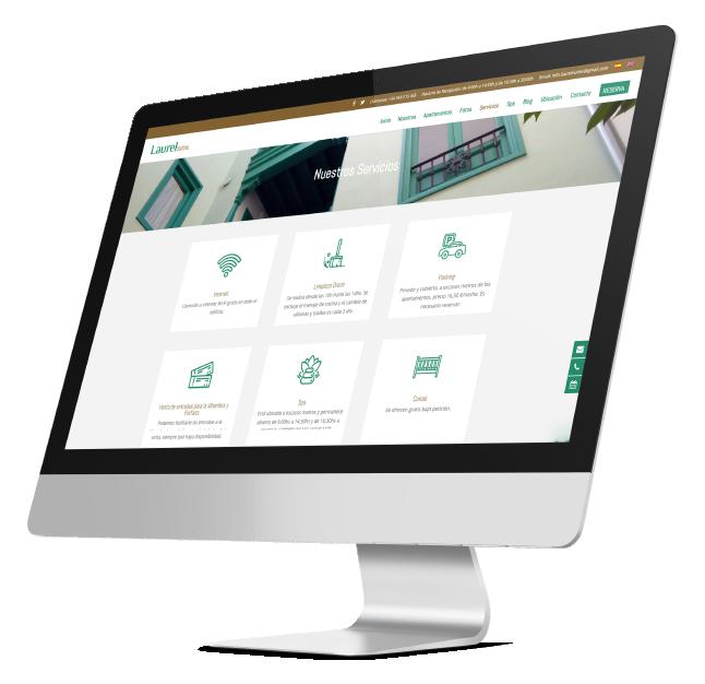 Página web de Laurel Suites realizada por App&Web