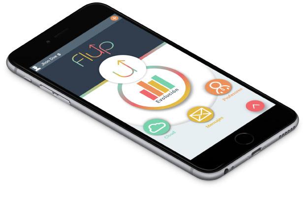 Flup es una app nativa android y ios para el sector educativo
