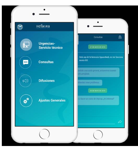 App nativa android y ios, desarrollada por App&Web