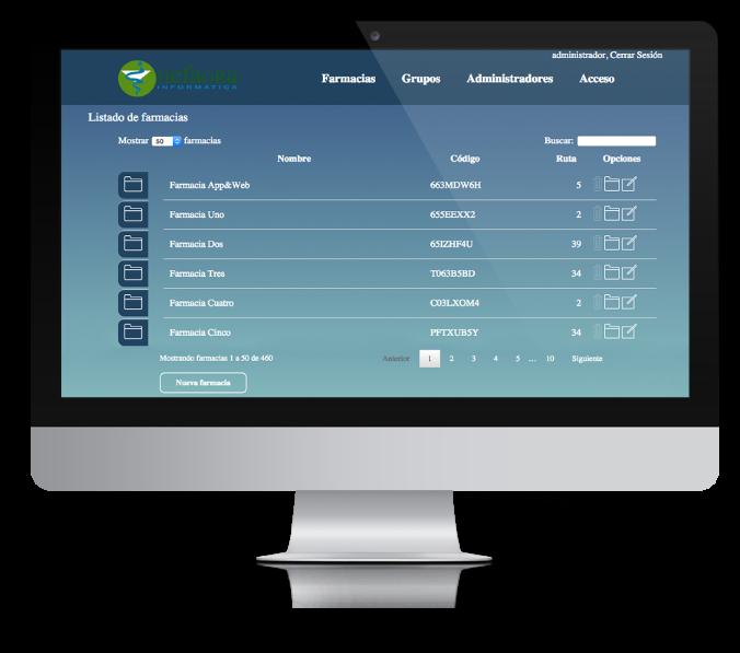Administración web privada de Hefagra creada por App&Web