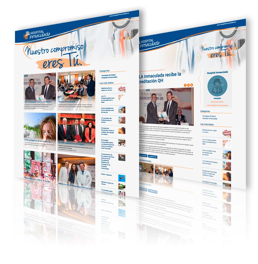 Desarrollo web del HLA Inmaculada por App&Web