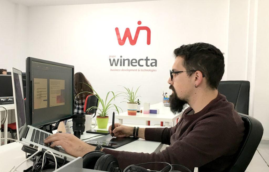 José Manuel, diseñador gráfico de App&Web y Grupo Winecta