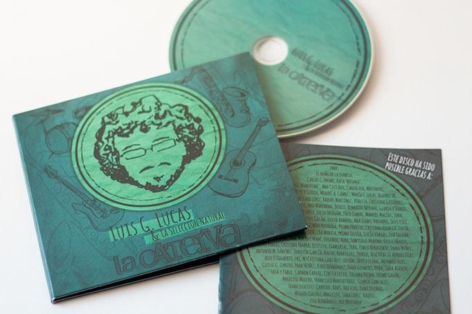 Portada del primer disco de Luis G. Lucas hecha por el diseñador gráfico José Manuel Jiménez