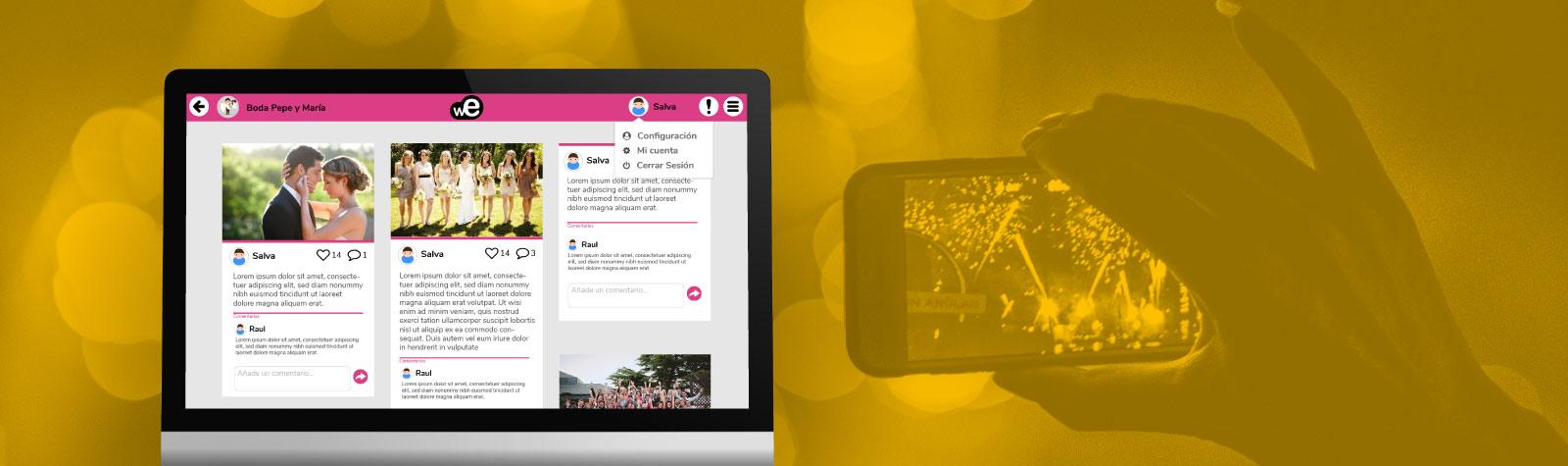 Imagen de la administración web de la app de Weevento