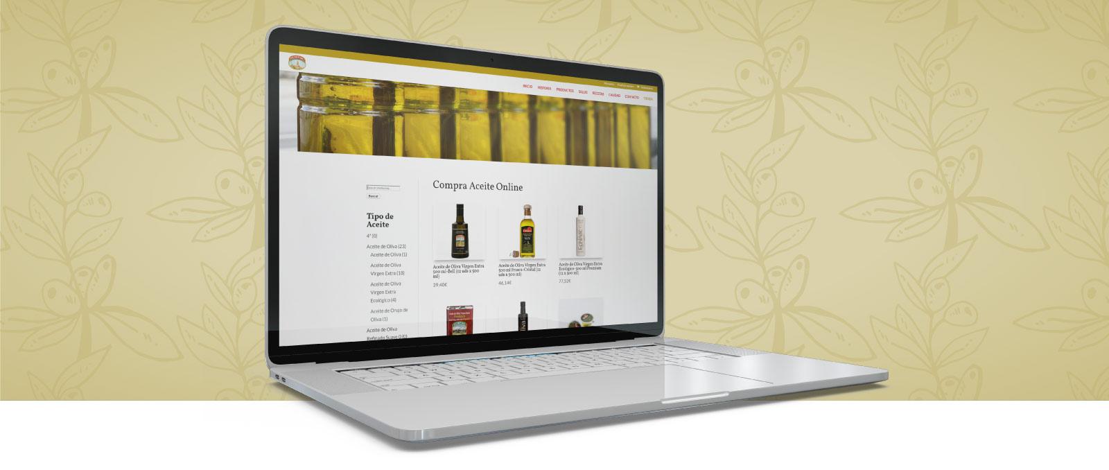 Imagen del desarrollo de la tienda online a medida de Aceites Echinac