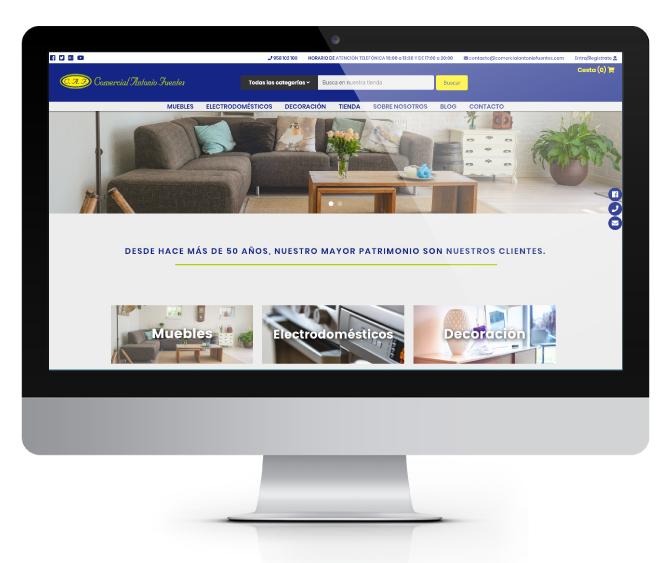 Desarrollo a medida de tienda online para Suministros Joaquín Plata