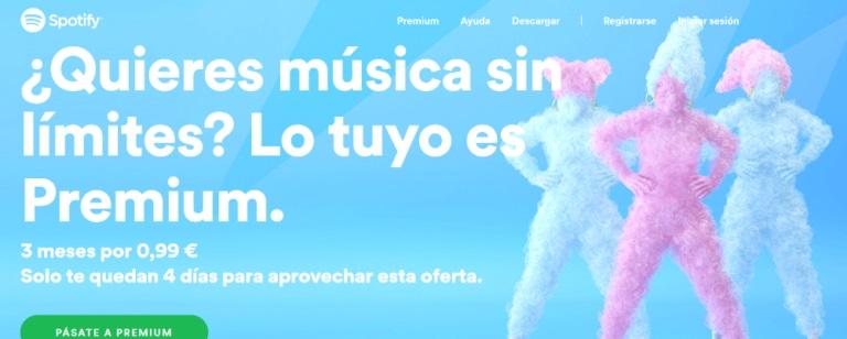 Colores intensos de Spotify, una de las tendencias en diseño web
