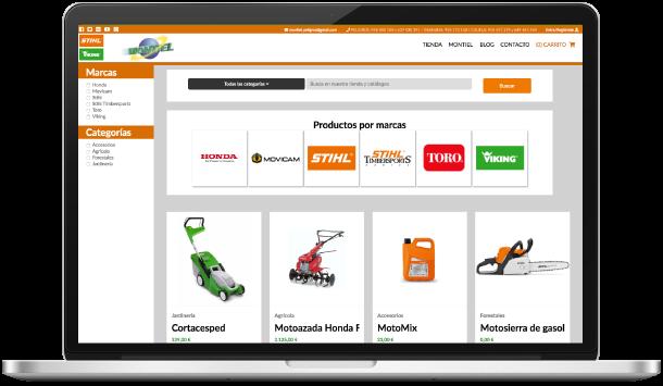 Desarrollo a medida de tienda online para Montiel