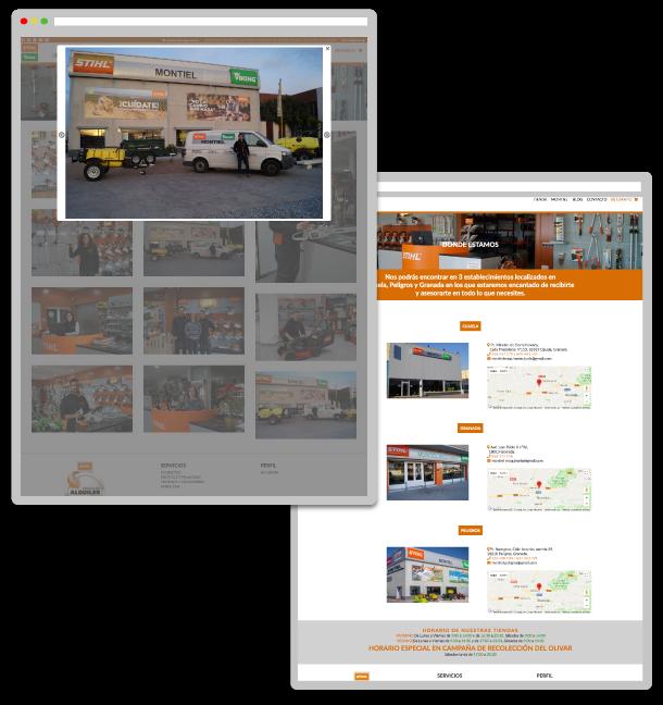Montiel, desarrollo de tienda online a medida