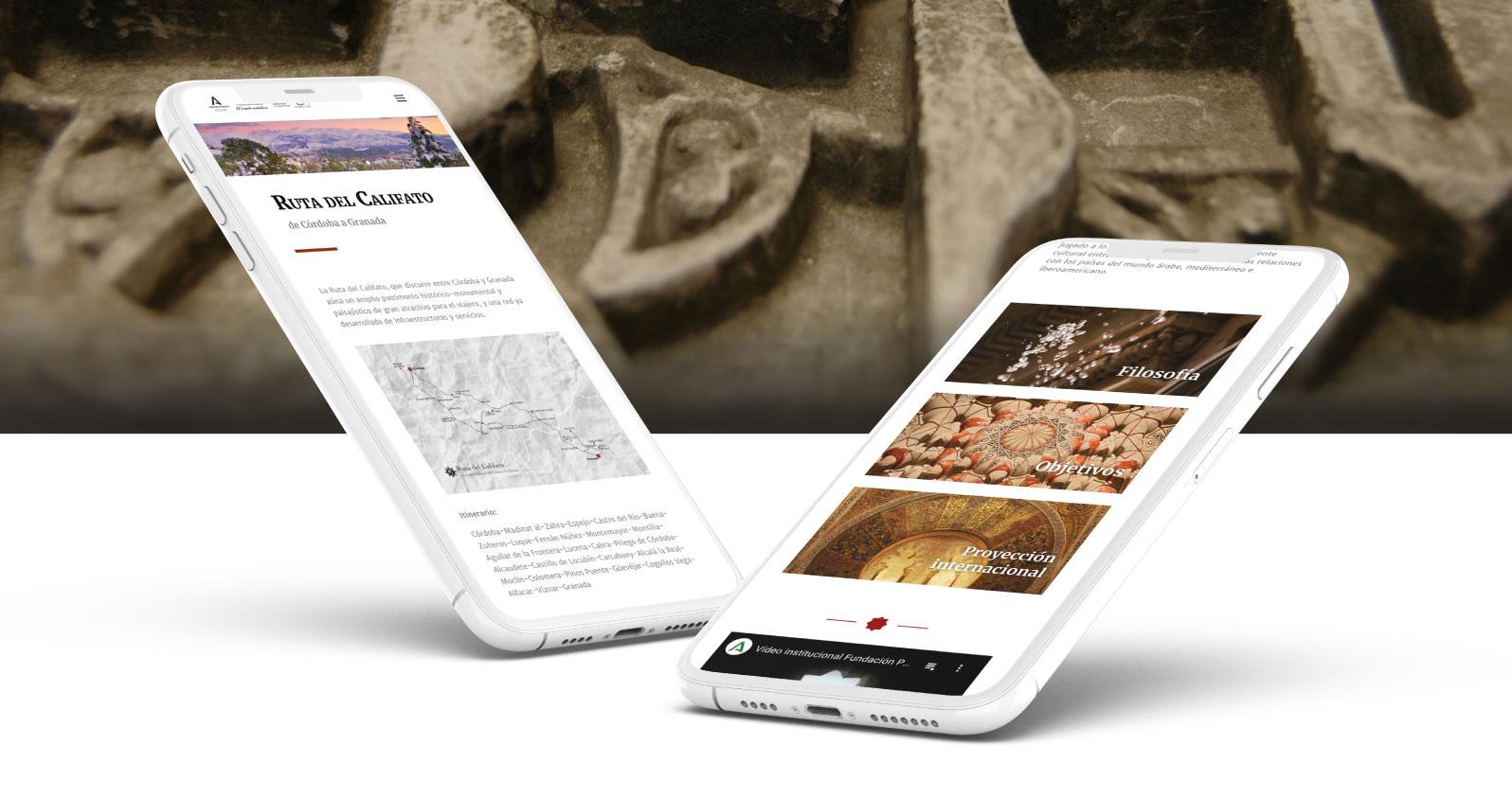 Imagen diseño web fundación el legado andalusí