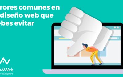 Errores comunes en el diseño web que debes evitar